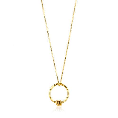 Ania Haie N002-01G Modern Circle Necklace M