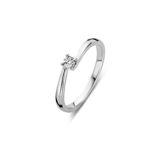 619102 Rosa di Luca zilveren briljant ring