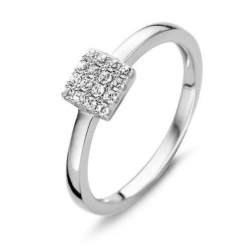 629510  Rosa di Luca zilveren ring zirconia