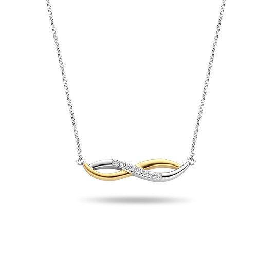 624626 Rosa di Luca zilveren verguld hanger infinity zirconia