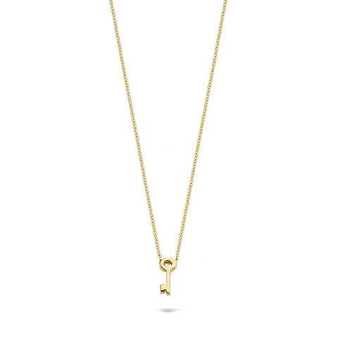 3092YGO Blush collier geelgoud sleutel