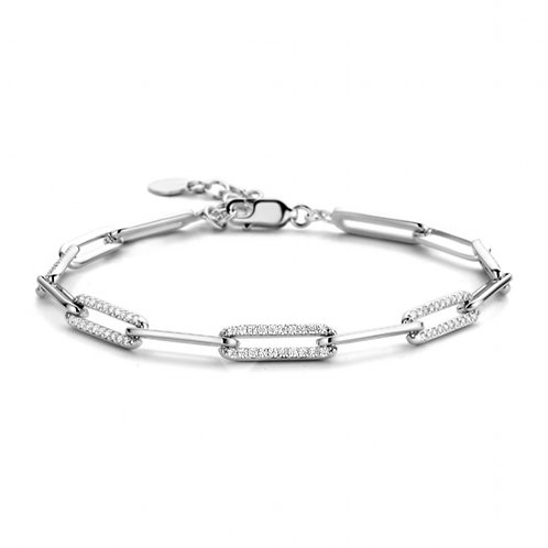 623618 Rosa di Luca zilveren armband zirconia