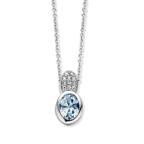 624538 Rosa di Luca zilveren hanger zirconia blauw