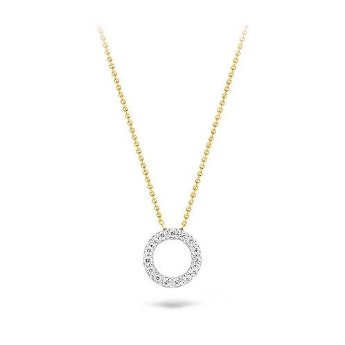 3065BZI Blush collier bicolor cirkel zirconia