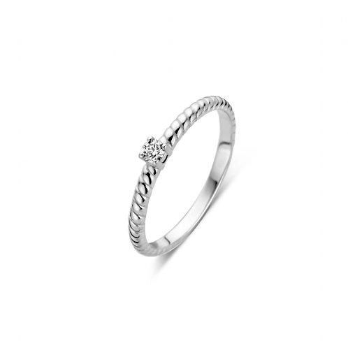 619101 Rosa di Luca zilveren briljant ring 0,06ct