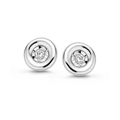 61510400 Rosa Di Luca zilveren oorknoppen briljant 0,06ct