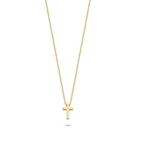 3091YGO Blush collier geelgoud kruisje