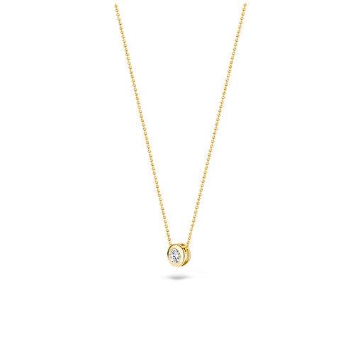 3052YZI Blush collier geelgoud zirconia