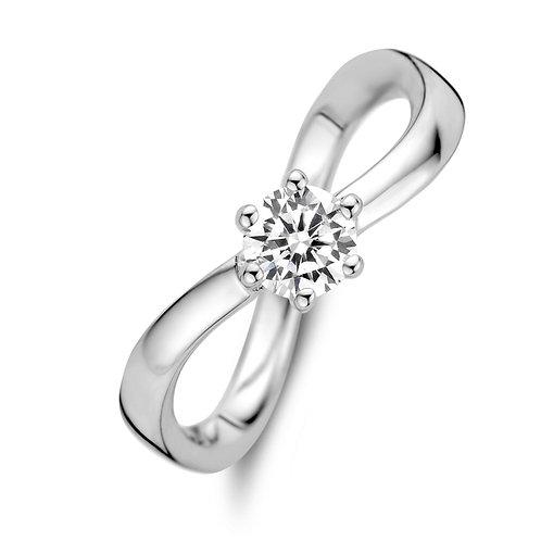 629632 Rosa di Luca zilveren ring zirconia