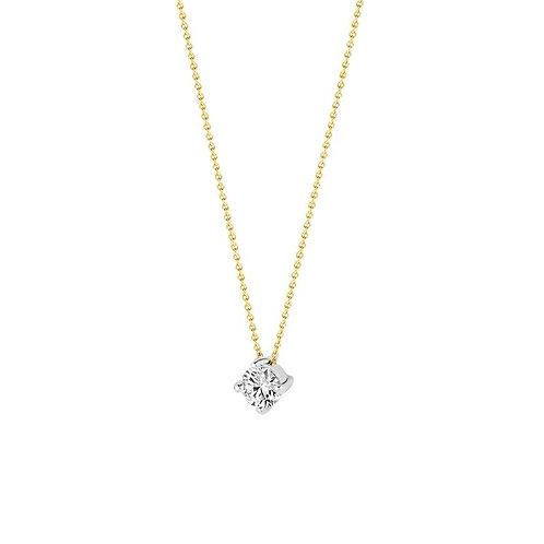 3057BZI Blush collier bicolor zirconia