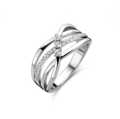 629660 Rosa di Luca zilveren ring zirconia