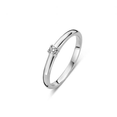 619104 Rosa di Luca zilveren briljant ring 0,03ct
