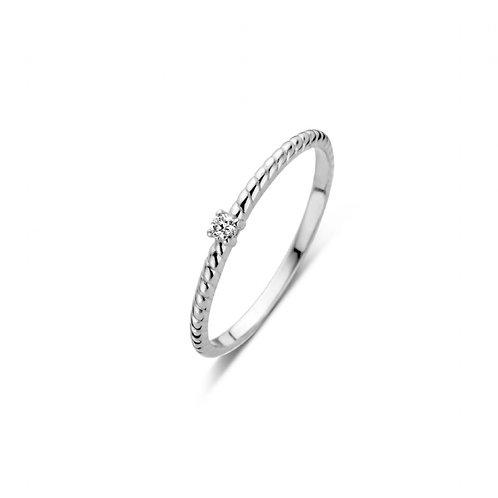 619100 Rosa di Luca zilveren briljant ring 0,03ct