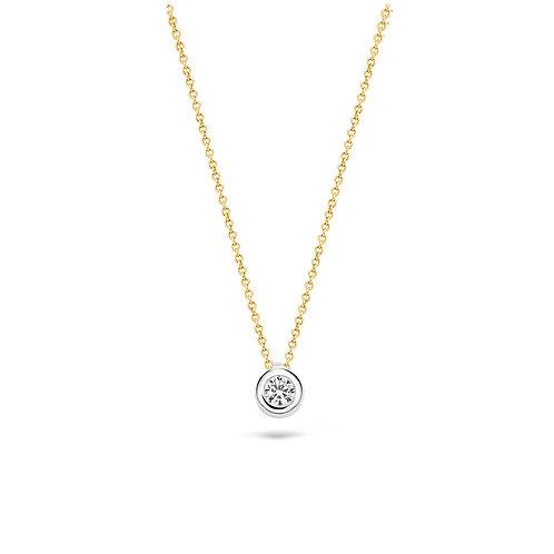 3067BZI Blush collier bicolor zirconia