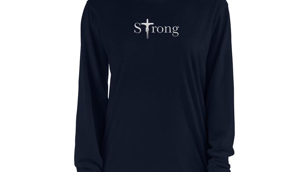 Strong - Long sleeve t-shirt - Dark W/ Light Text