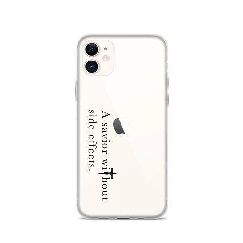 A Savior Without Side Effects - iPhone Case - Dark Text