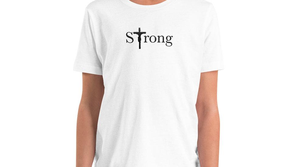 Strong - Youth Short Sleeve T-Shirt - Light W/ Dark Text