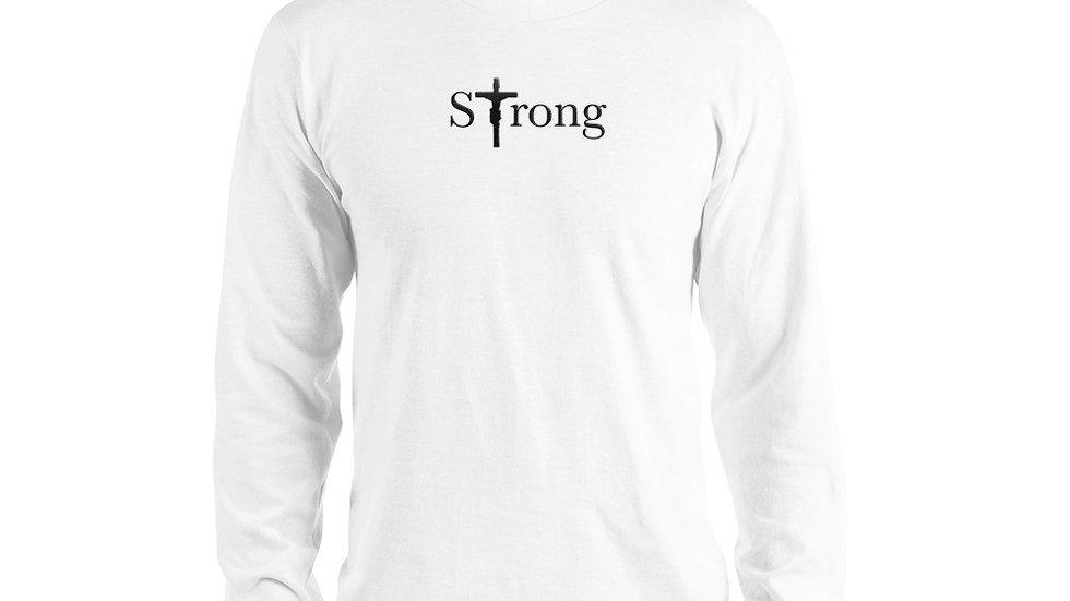 Strong - Long sleeve t-shirt - Light W/ Dark Text