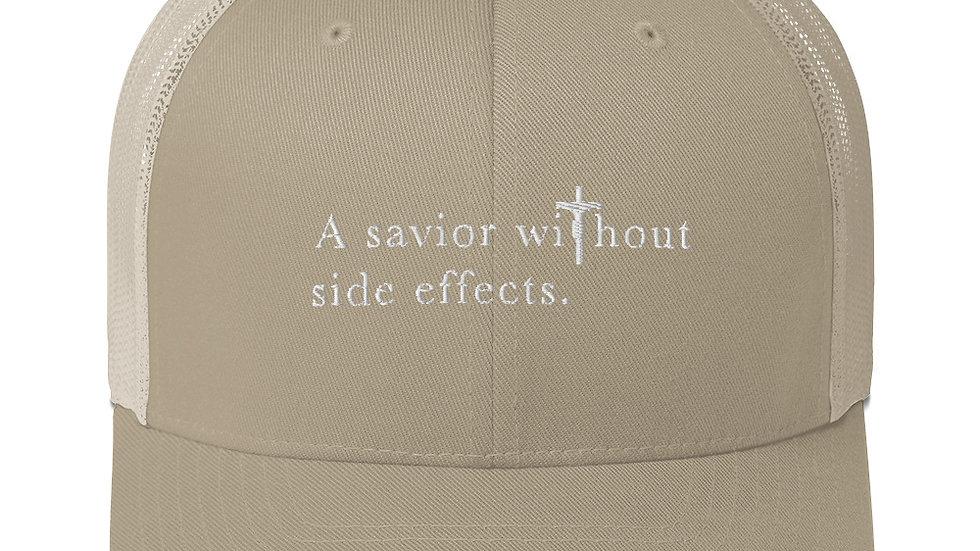 A Savior Without Side Effects - Trucker Cap - Dark Cap/Light Text