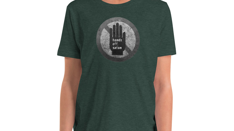 Hands off, satan - Youth Short Sleeve T-Shirt