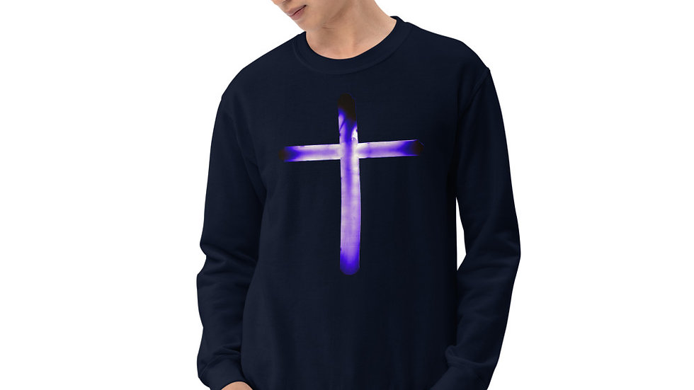 Glowing Crucifix - Unisex Sweatshirt