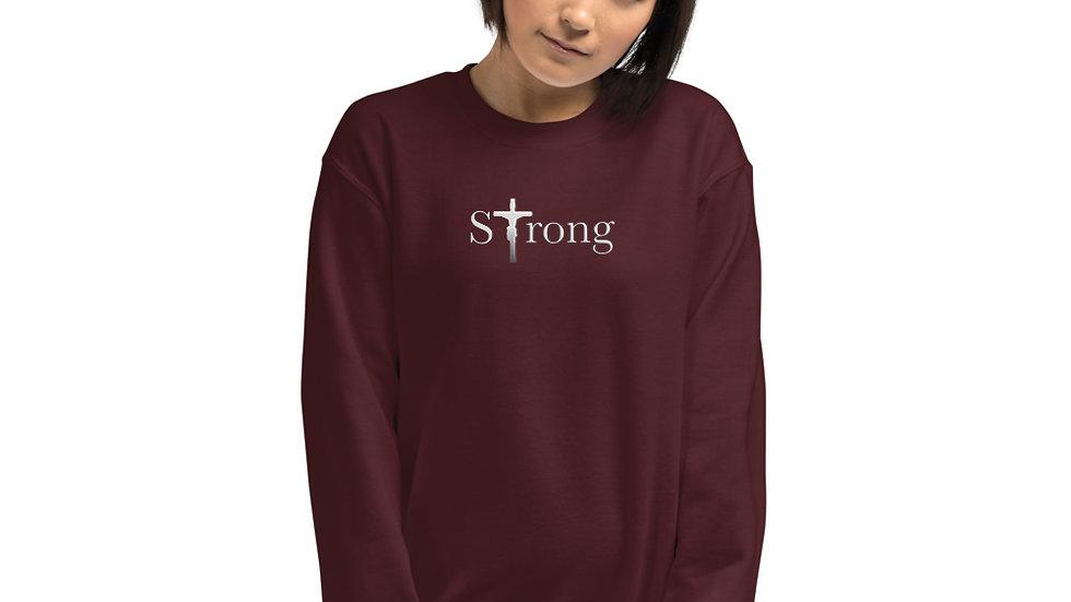 Strong - Unisex Sweatshirt - Dark W/ Light Text