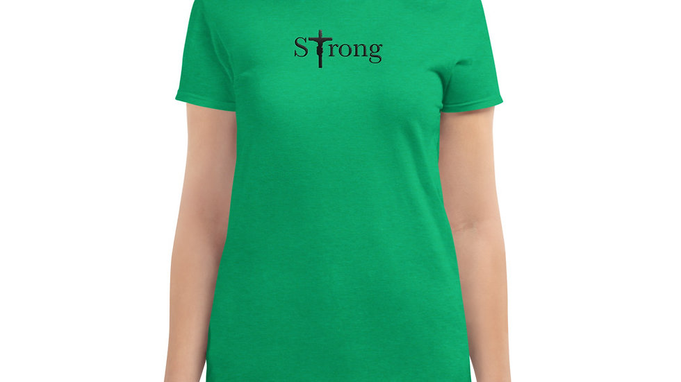 Strong - Women's short sleeve t-shirt - Light W/ Dark Text