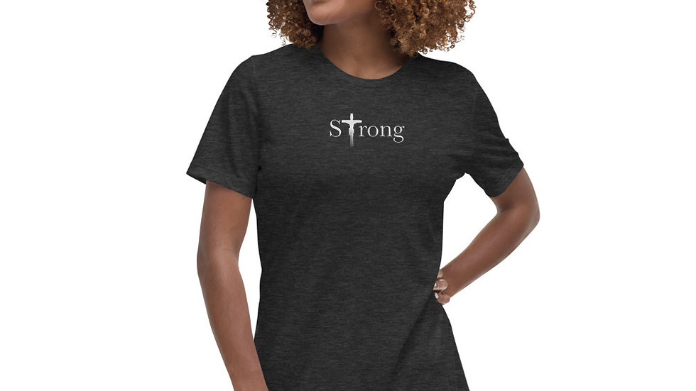 Strong - Women's Relaxed T-Shirt - Dark W/ Light Text