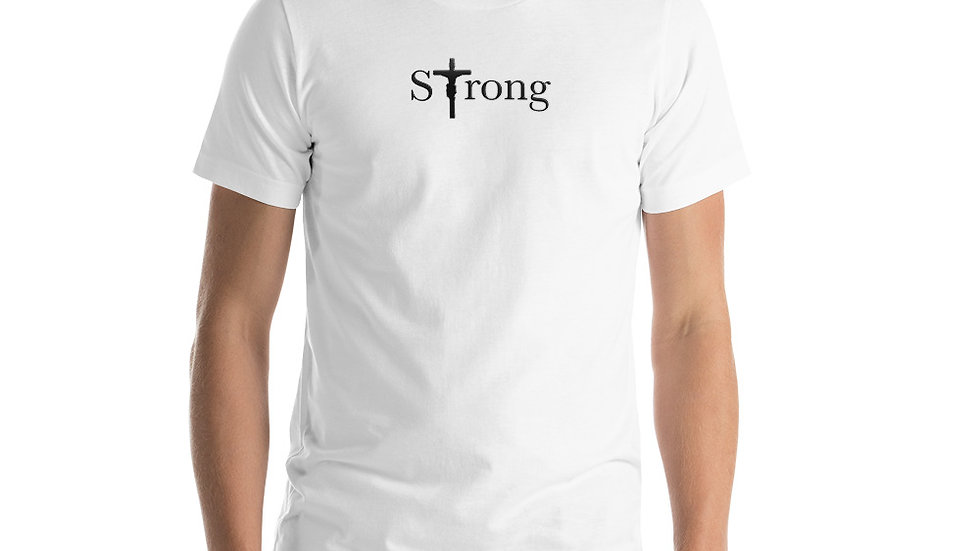 Strong - Short-Sleeve Unisex T-Shirt - Light W/ Dark Text