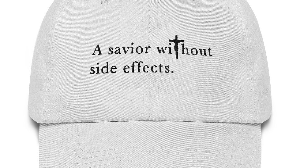 A Savior Without Side Effects - Cotton Cap - Light Cap/Dark Text