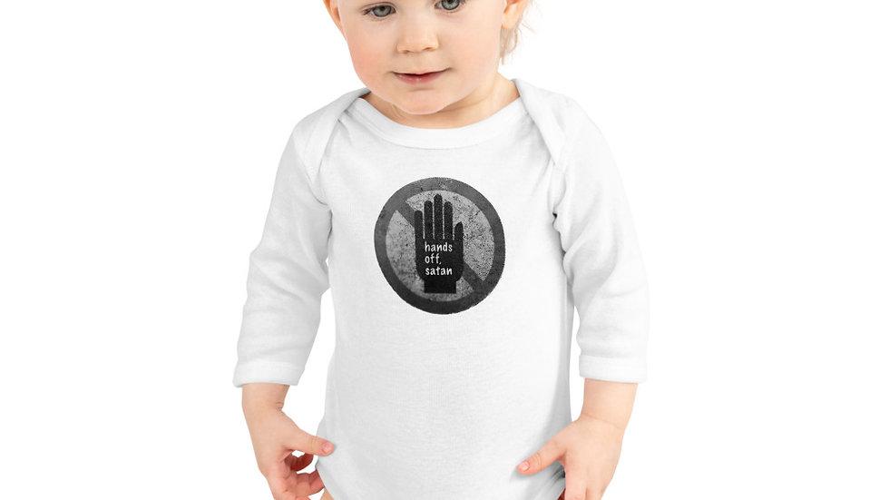 Hands off, satan - Infant Long Sleeve Bodysuit