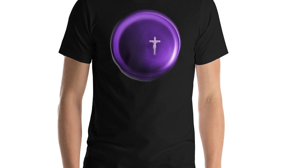 Crucifix Circle - Short-Sleeve Unisex T-Shirt