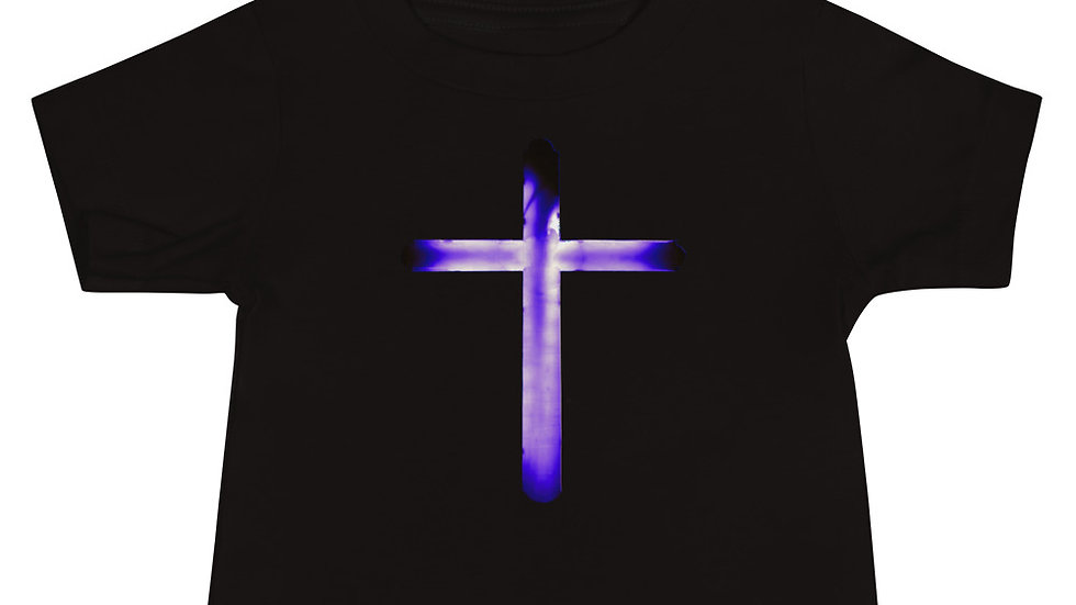 Glowing Crucifix - Baby Jersey Short Sleeve Tee