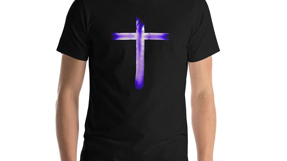 Glowing Crucifix - Short-Sleeve Unisex T-Shirt
