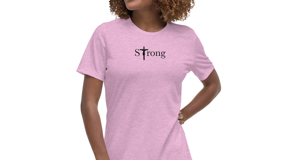 Strong - Women's Relaxed T-Shirt  - Light W/ Dark Text
