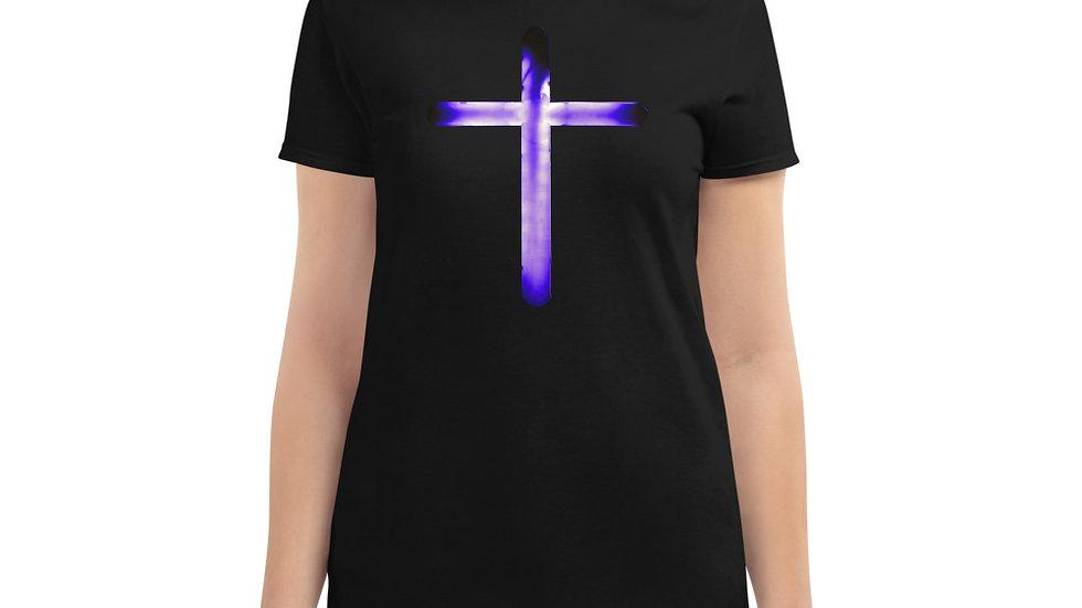 Glowing Crucifix - Women's short sleeve t-shirt