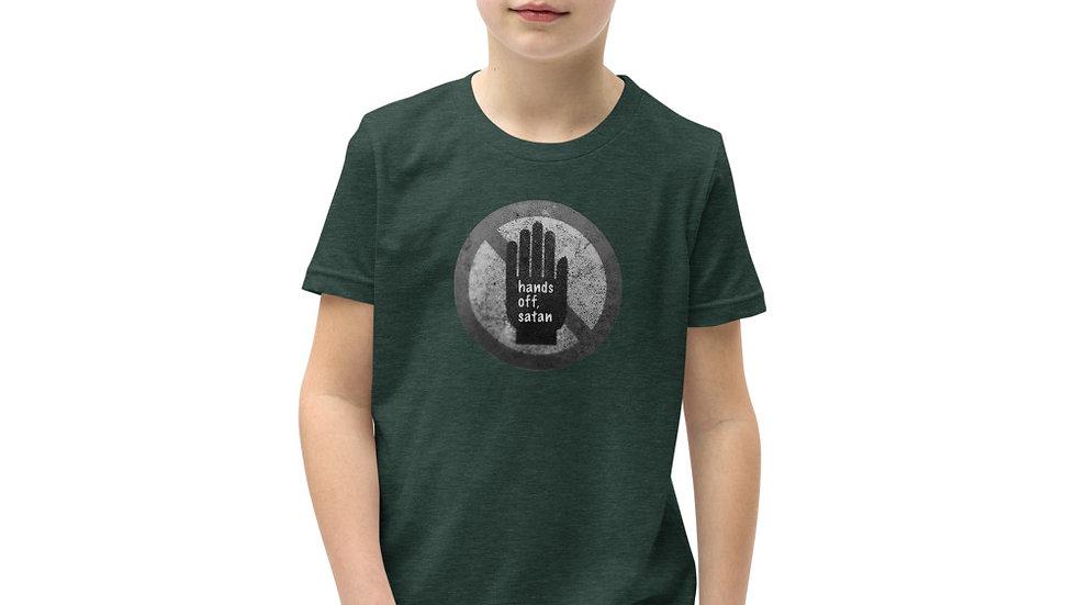 Hand off, satan - Youth Short Sleeve T-Shirt