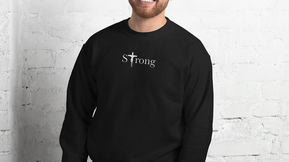 Strong - Unisex Sweatshirt - Dark W/ Light Text