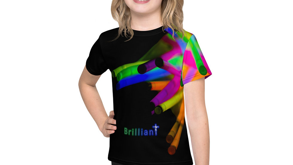Brilliant (All Over Print for Boys) - Kids T-Shirt