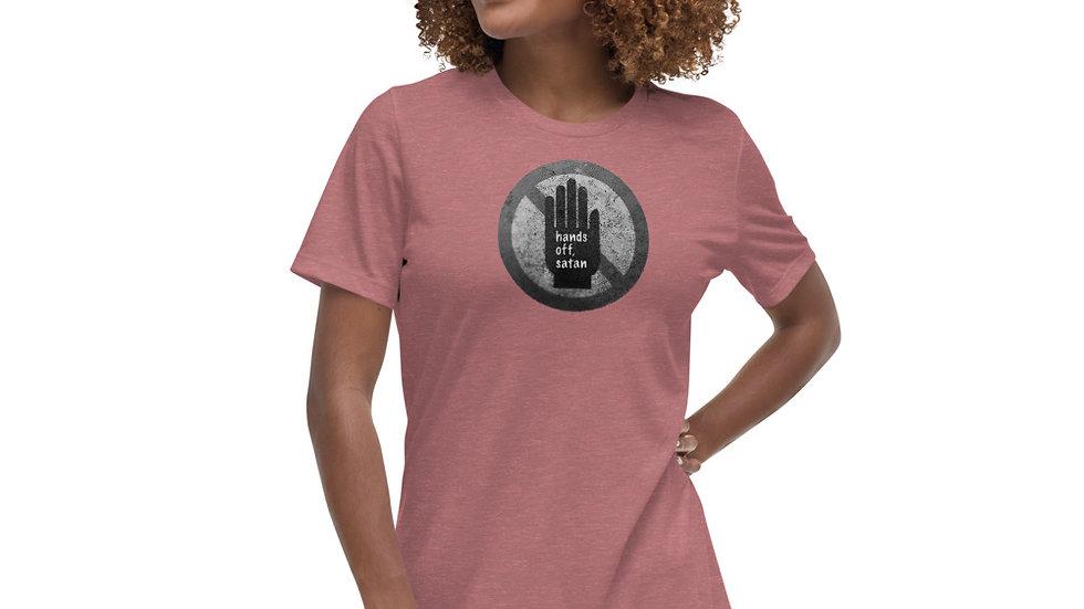 Hands off, satan - Women's Relaxed T-Shirt