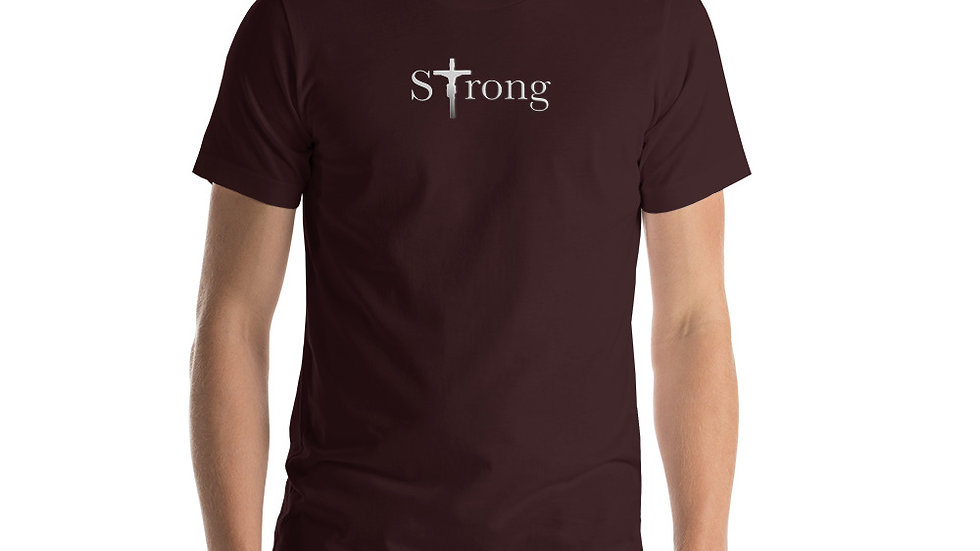 Strong - Short-Sleeve Unisex T-Shirt - Dark W/ Light Text