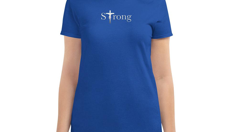 Strong - Women's short sleeve t-shirt - Dark W/ Light Text