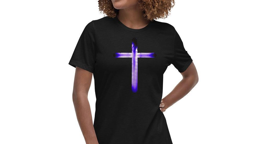 Glowing Crucifix - Women's Relaxed T-Shirt