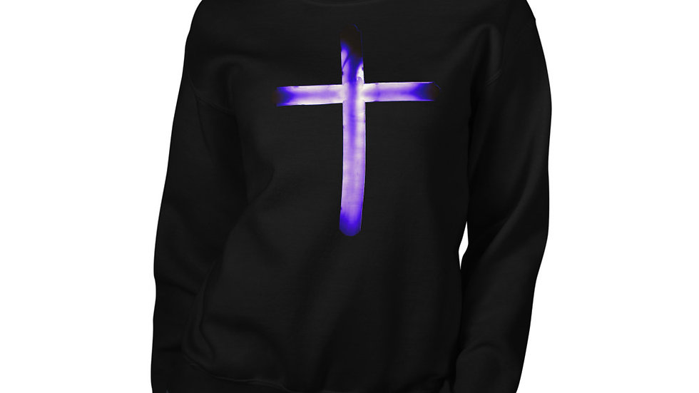Glowing Crucifix - Unisex Sweatshirt
