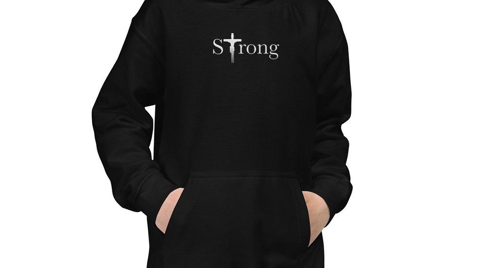 Strong - Kids Hoodie - Dark W/ Light Text