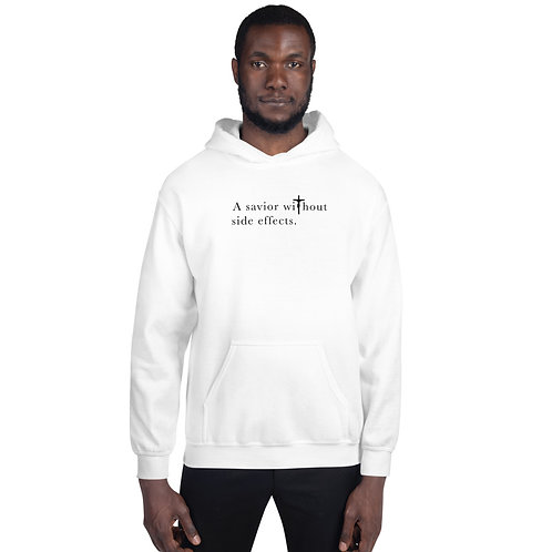 A Savior Without Side Effects - Unisex Hoodie - Light Hoodie - Dark Text