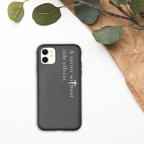 A Savior Without Side Effects - Biodegradable phone case - Dark Text