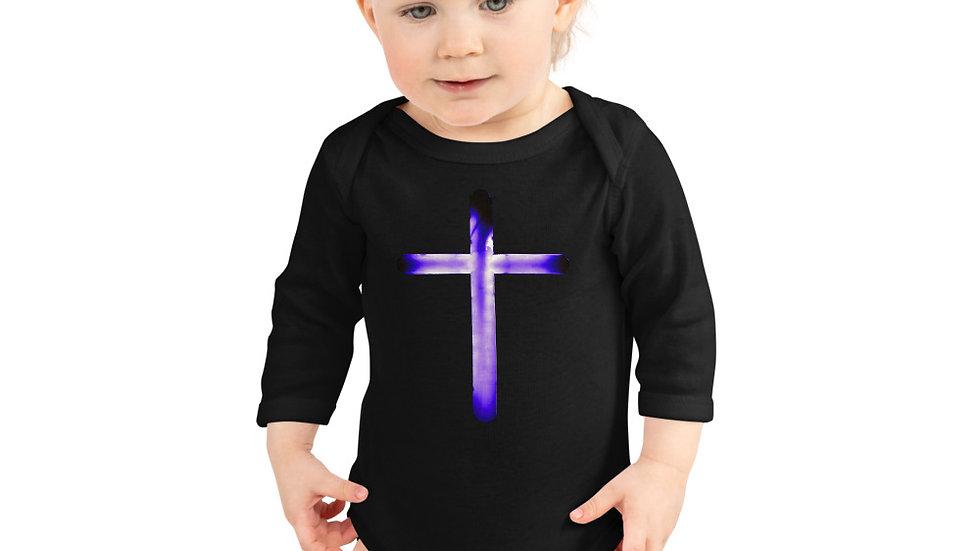 Glowing Crucifix - Infant Long Sleeve Bodysuit