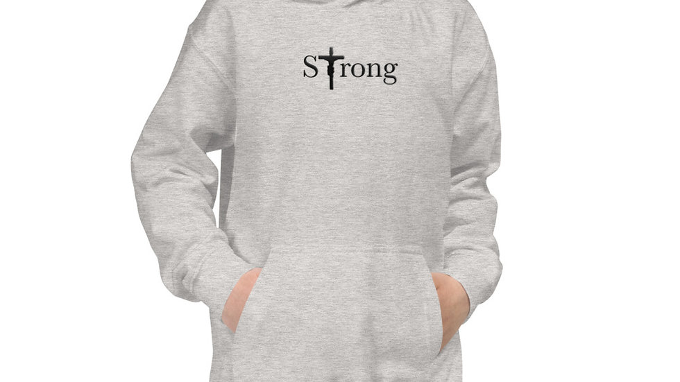 Strong - Kids Hoodie - Light W/ Dark Text