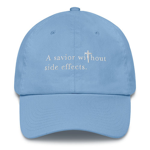 A Savior Without Side Effects - Cotton Cap - Dark Cap - Light Text